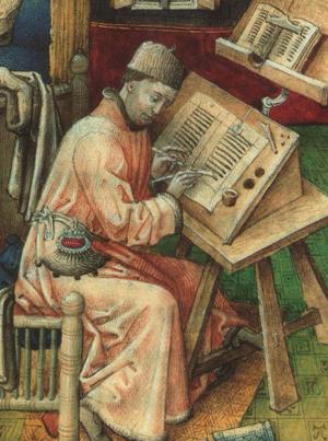 Un scribe du moyen-âge